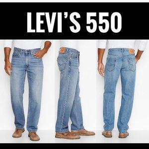Levi's 550 Relaxed Men's Medium-Stonewash Jeans👖